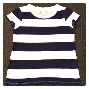 Old navy blue and white girl's shirt
